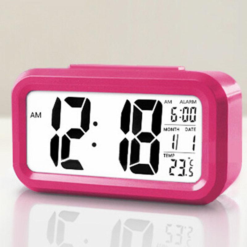 Home Convenient 1pc LED Alarm Clock,Despertador Temperature Sounds Control LED Display,Electronic Desktop Digital Table Clocks(China (Mainland))