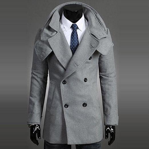Blazer Coat Mens Coats Mens Fitted Pea Coat
