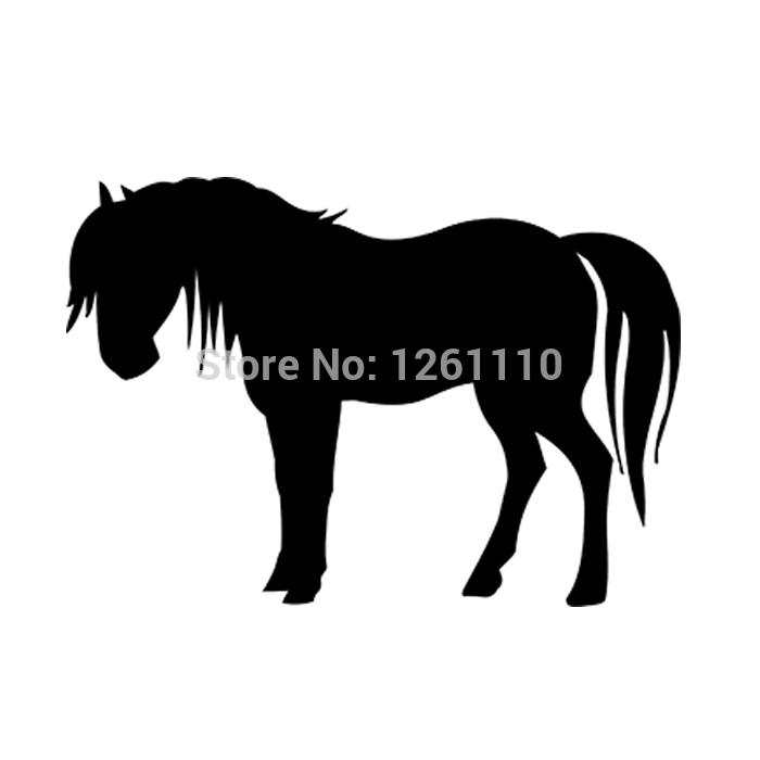 40 pcs/lot Horse silhouette - Vinyl Decal Bumper Stickers for Car Truck Window Wall Art laptop Notebook Glass 8 Colors(China (Mainland))