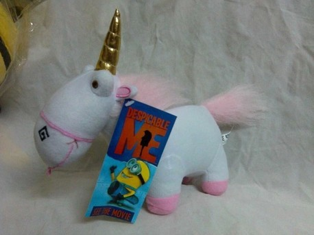 Free shipping Despicable Me Fluffy Unicorn plush toy 23cm doll horse stuffed toy(China (Mainland))