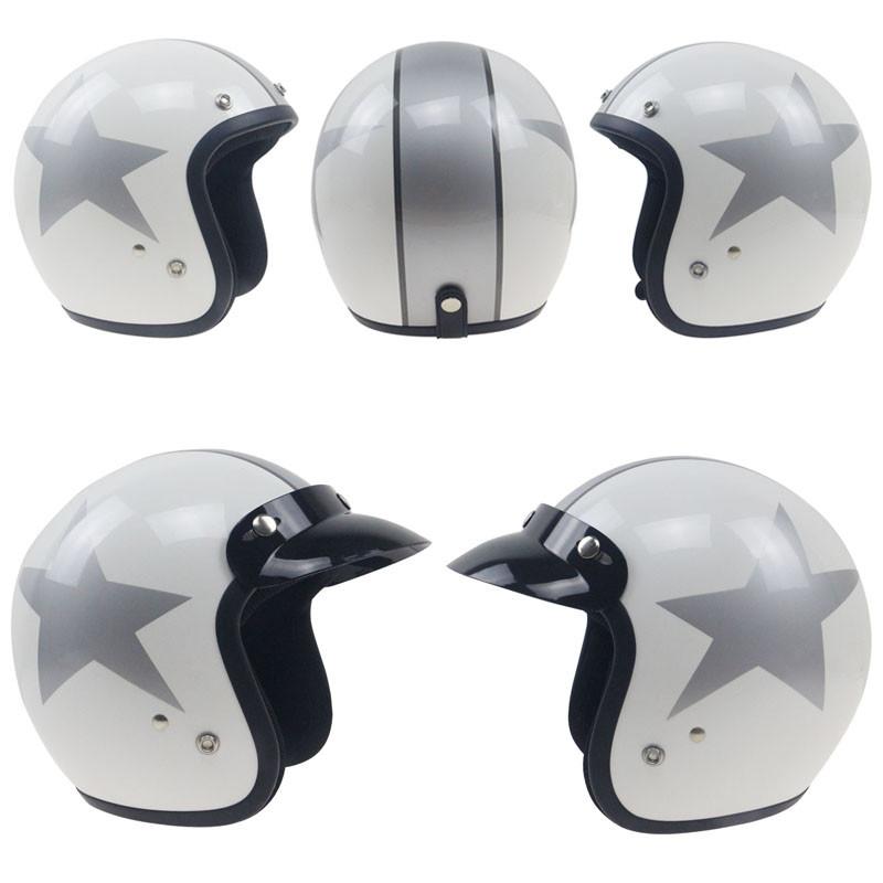 Купить Япония Классический Vintage 3/4 Мотоциклетный Шлем Высокое качество Велосипед Чоппер шлем Sml XL XXL доступны
