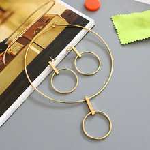 Buy High pure copper mass cos metal style elegant temperament collar necklace earrings set accessories wholesale fashion jewelry jewelry wholesale) for $1.08 in AliExpress store