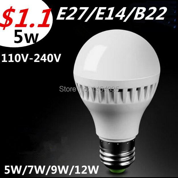 2016 New E27 E14 B22 Led Lam110V 220V 5w 7w 9w 12w 15w SMD2835 Led Bulb cold/Warm White Interior decoration Energy Saving bulb(China (Mainland))