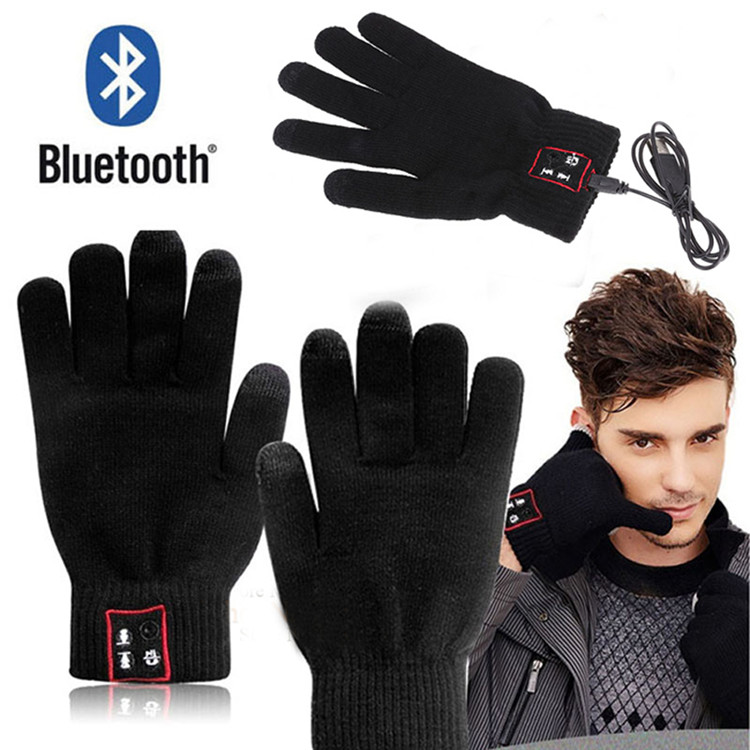Fashion Smart Bluetooth Glove Wireless Touch Screen Talking Magic Gloves Bluetooth Headphone With Mic For iphone 6/plus samsung(China (Mainland))