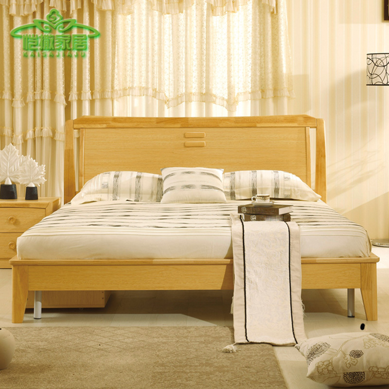 Georgia minimalist furniture tatami single bed 1.5 m 1.8 m wood bed Double bed Special bed marriage bed(China (Mainland))