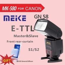 Buy Meike MK580 TTL Camera Flash Speedlite Canon 580EXII EOS 5D Mark II III 6D 7D 60D 600D 700D 760D 5D4+Diffuser for $72.00 in AliExpress store
