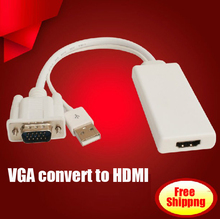 high-quality VGA to HDMI convert cable VGA male to HDMI female adapter analog to digital Computer to TV converter adaptor
