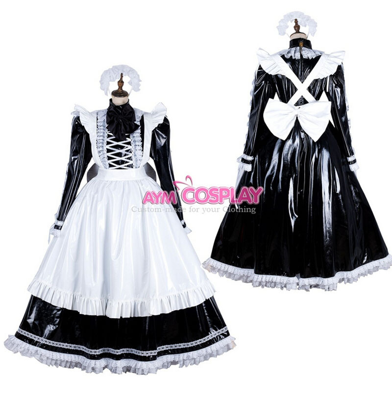 New Arrival Custom made Locking Sissy Maid PVC Dress Cosplay Costume HalloweenОдежда и ак�е��уары<br><br><br>Aliexpress
