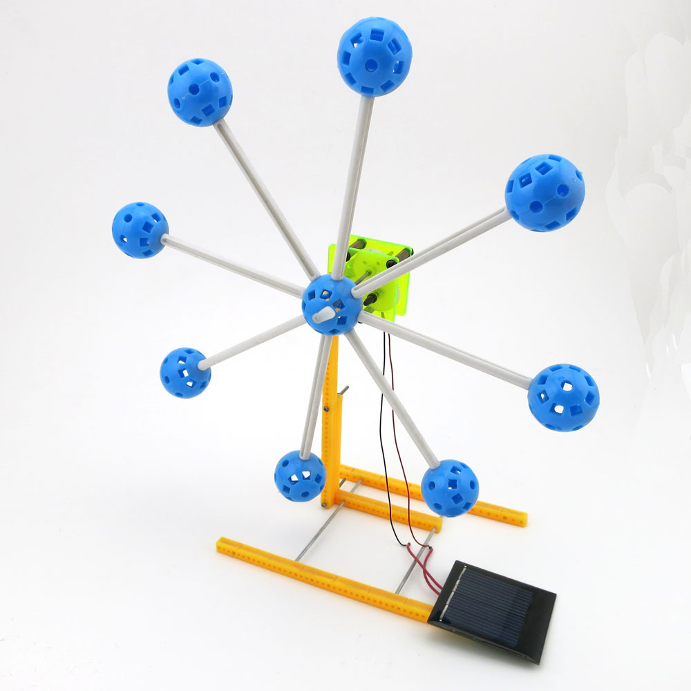 Solar Power Invention Kit Small Toy Gift Ferris Wheel Building Model 4WD Smart Robot Car Chassis RC Toy F17930(China (Mainland))