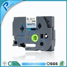 Brother label tape 18mm black on white tze label tape tze-241 tze 241 tze241 for P-touch printer