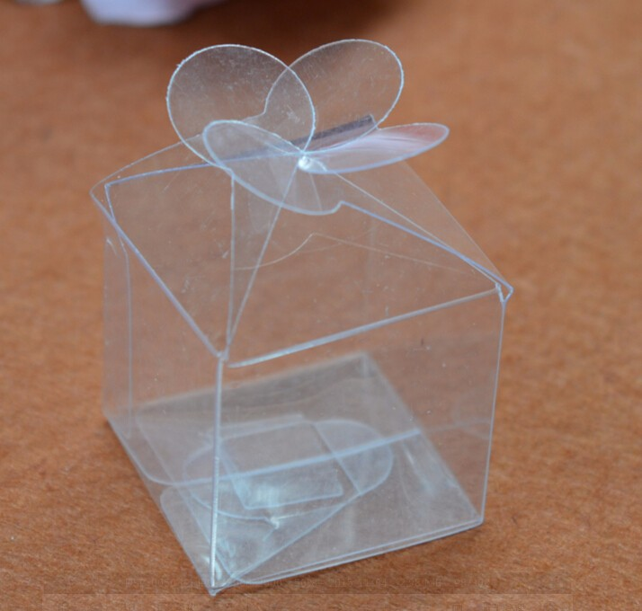 50pcs Mini Plastic Box Transparent Clear Wedding Favor Boxes Clear Pvc Packaging Box Wedding Candy Boxes