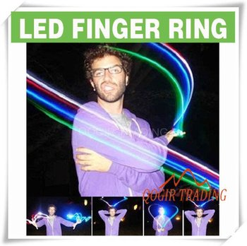 4x Color LED Bright Finger Ring Lights Glow Party Torch LY-6112
