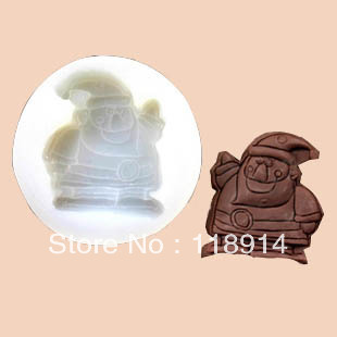 Father Christmas silicone chocolate mould, cake mould, soap mould, food standard materials <M-C0087>