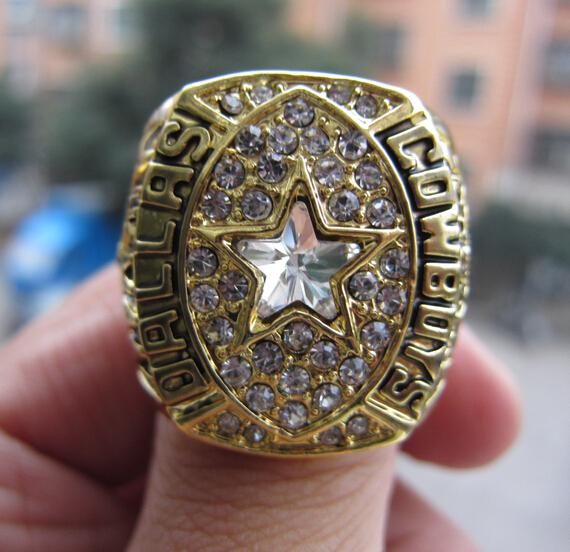 Free Shipping high quality 1992 DALLAS COWBOYS Super Bowl Ring Championship Ring Football Ring Fan Gift whosesale factory(China (Mainland))