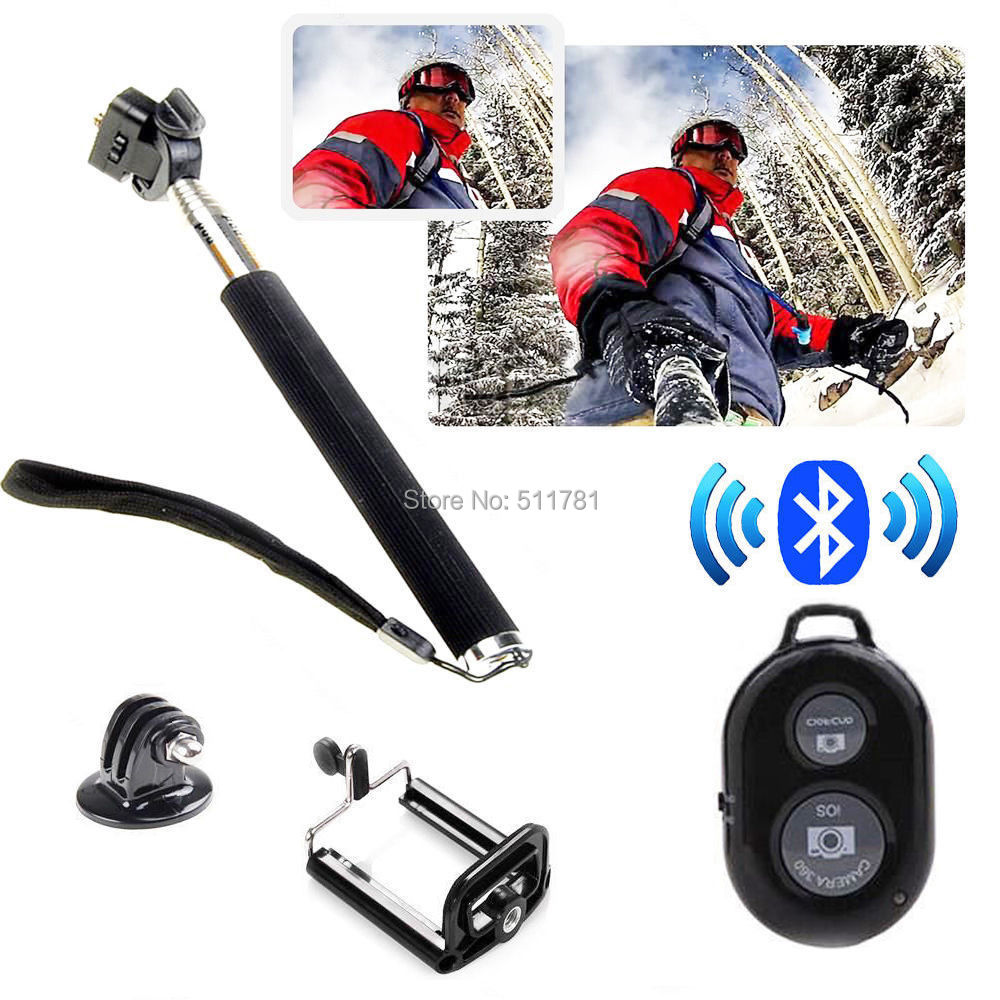 Z07-1 Extendable Monopod + Phone Holder + Gopro Tripod Mount + Wireless Bluetooth Remote Shutter For IOS Android All Smart Phone<br><br>Aliexpress