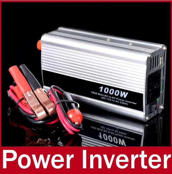 12V/220V Portable Automotive Power Inverter 1000W Charger Converter for Car Auto DC 12 to AC 220 Modified Sine Wave(China (Mainland))