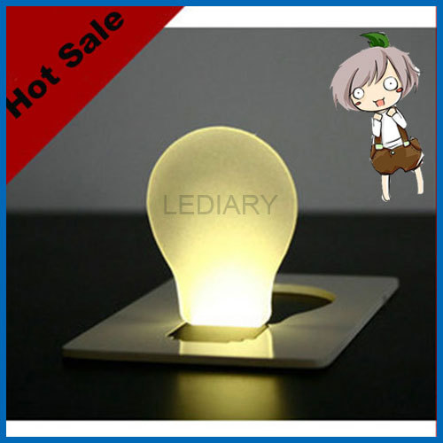 new design hot sale 5PCS/lot portable LED card lamp/light bulb mini LED credit card lamp wallet size free shipping(China (Mainland))