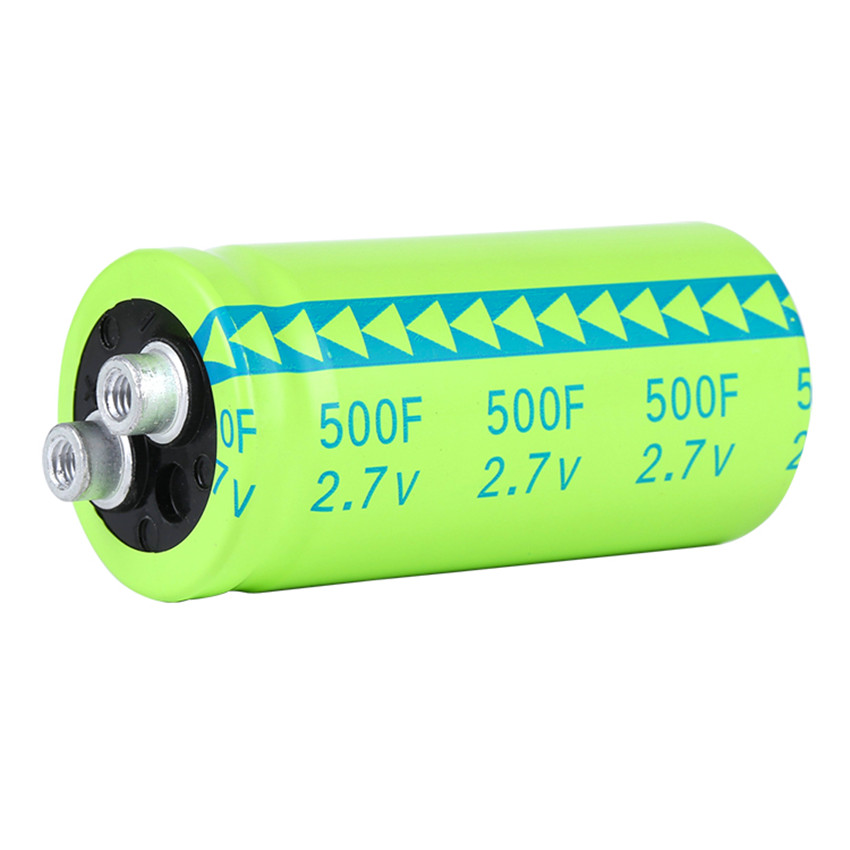 Super capacitor Fala capacitor 2.7V 500F screw type super large capacity and ultra low resistance NEW(China (Mainland))