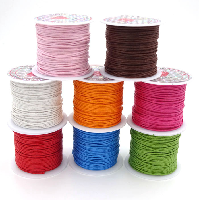 1.0mm 10m Roll Waxed Cord For Bracelet And Necklace Making Wax Cordones Thread String Wholesale Diy Jewelry Accessory AGC95(China (Mainland))
