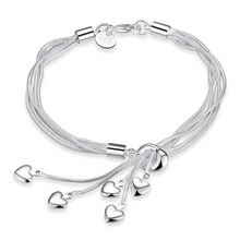 GSSPH067/Christmas Sale,silver bracelet,silver plated jewelry,wedding jewelry,wholesale fashion jewelry, factory price(China (Mainland))