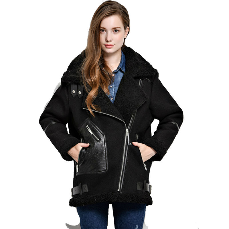 Shearling Aviator Jacket Women - Best Jacket 2017
