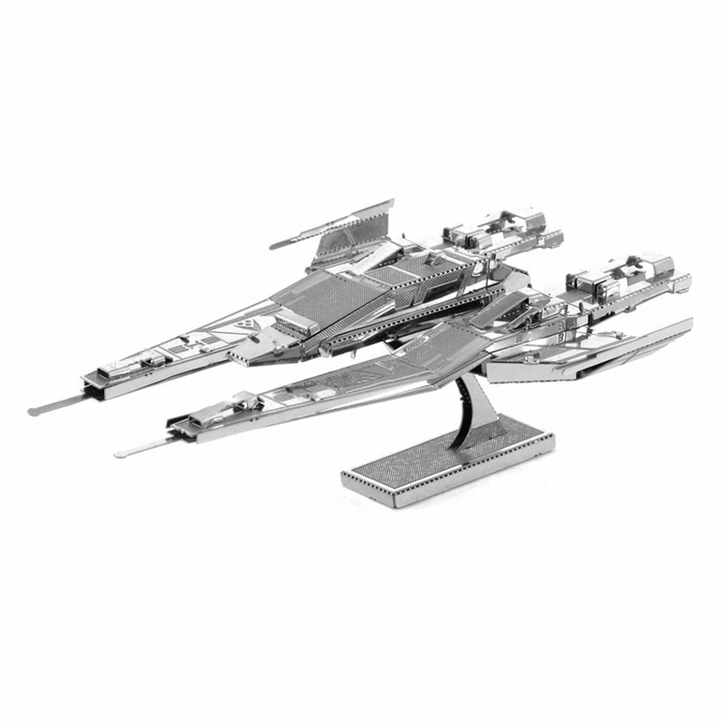 Mass Effect 3D Metal Jigsaw Puzzles Leisure Handwork DIY SX3 Alliance Fighter Model Toys Best Gift For Kids and Adult(China (Mainland))