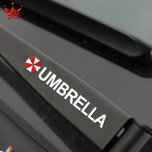 2pcs/lot fashion 3M reflective material car handle stickers and decals,Resident Evil umbrella style car styling stickers(China (Mainland))