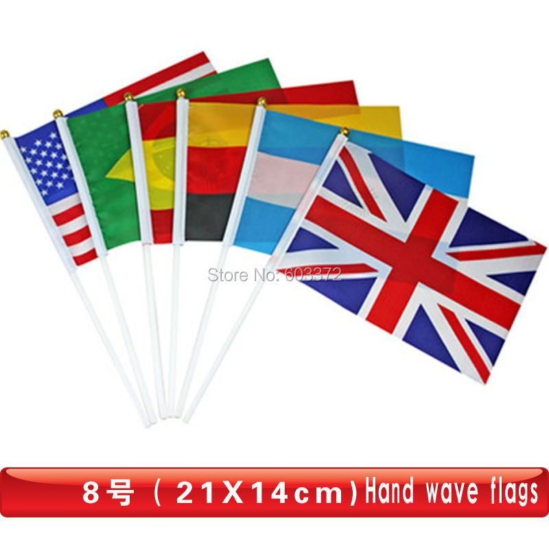 Promotional Hand Flags Hand Waving National Flag