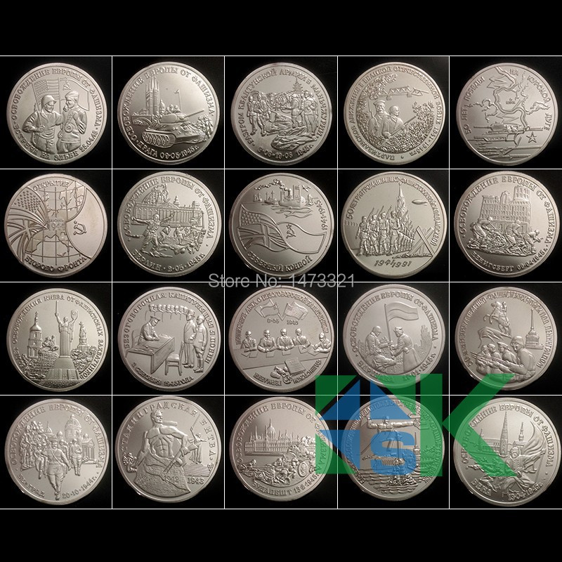 Russian 3 rubles coin 1991-1995 Second World War replica silver coins 70years Victory in Great Patriotic War coin 200pcs/lot(China (Mainland))