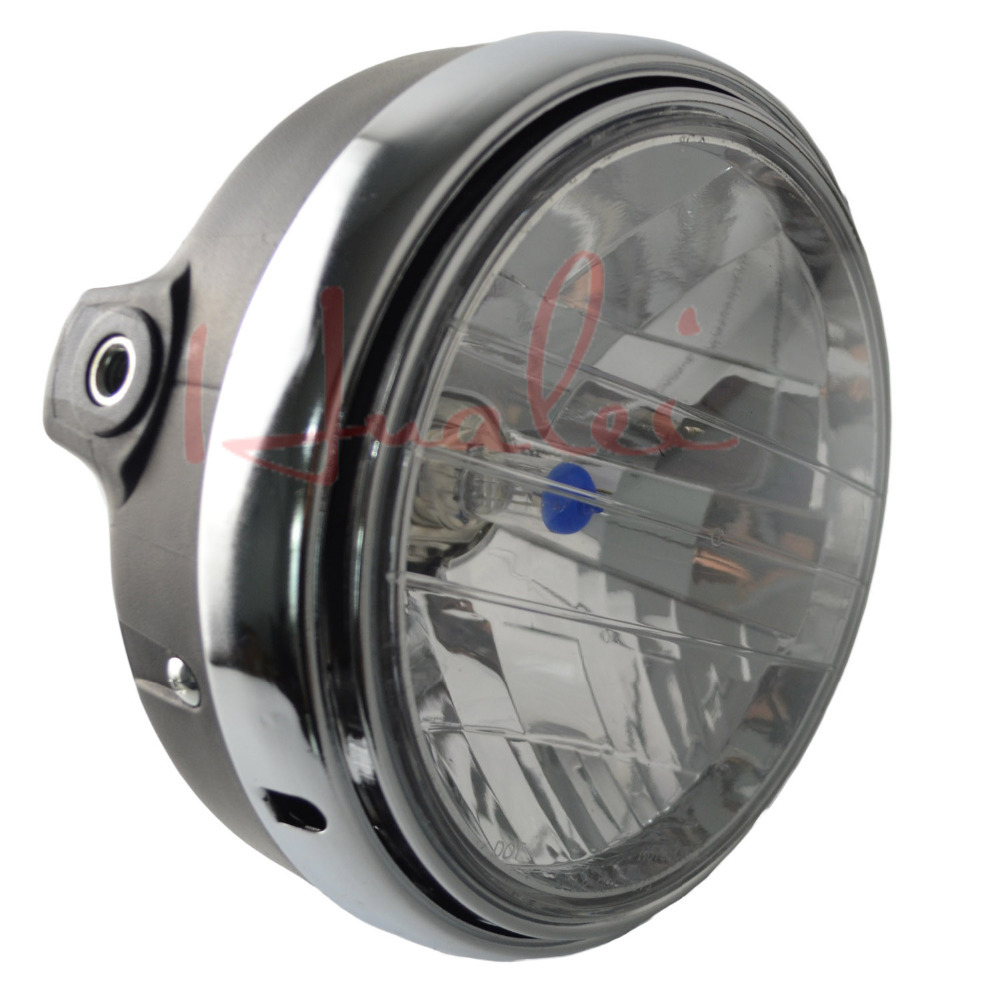 Motorcycle Round Chrome Halogen Headlight Lamp For Honda CB400 CB500 CB1300 CB 400 Hornet250 Hornet600 Hornet900