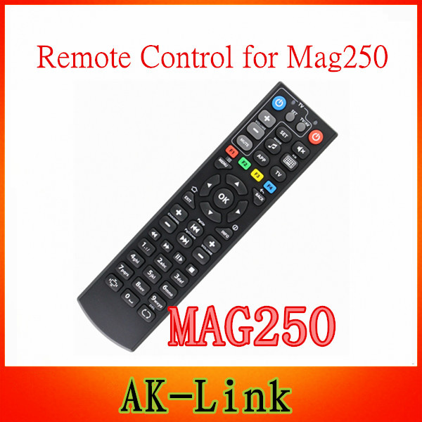 remote control for android tv box Black Color Replacement Remote Control For Mag250 linux system iptv set top box dvb-t2 tv(China (Mainland))