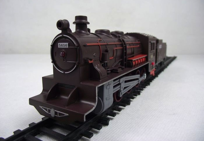 Classic steam locomotive train toy model large size 1/76 light and music Electric toys gift for kid(China (Mainland))