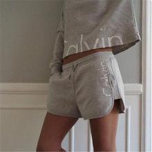 2016 Ladies Tracksuits Cotton Movement Hoodies Sweatshirt + Short Pants Jogging Sports Costumes Women Pant Set 2 Piece Set(China (Mainland))