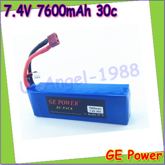 1pcs GE Power High rate Lipolyer 7.4V 7600mAh 30C 2s Lipo Battery For Rc Car Traxxas HPI FLUX Wholesale<br><br>Aliexpress