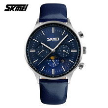 2016 Luxury Brand SKMEI 9117 Men Business Quartz Watches Waterproof men sports watches leather watchband Relogio Masculino
