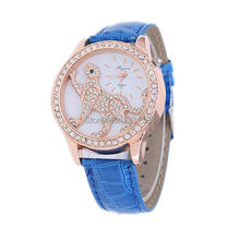 Recién llegados Ms ocio mayor reloj! 100% de la alta calidad Rhinestone del reloj del leopardo, entrega directa de la fábrica, mujeres del reloj