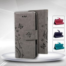 For iPhone 5S Fashion Flower Printing Luxury PU Leather Stand Wallet Flip Cover Phone Case for iPhone 5 5S SE with Card Slots(China (Mainland))