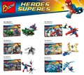 Bozhi 98078 Super Heroes Series Spider Man Theme Green Goblin Bricks Building Block Minifigure Toys Compatible