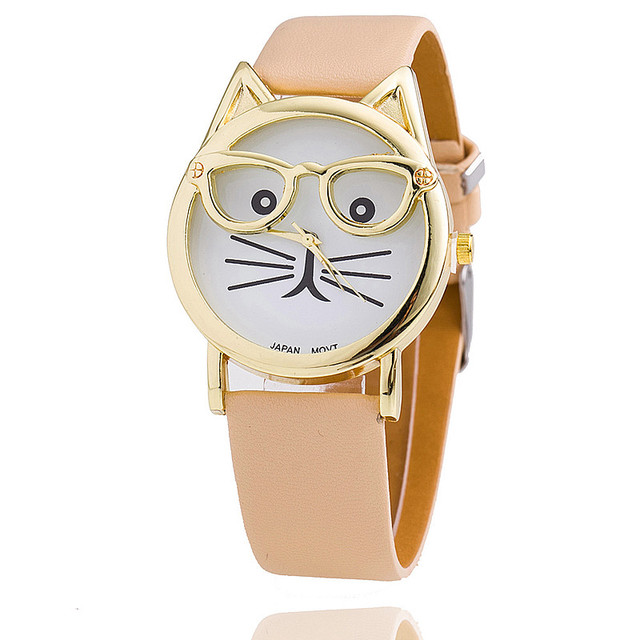 Clever Cat with Glasses Watches