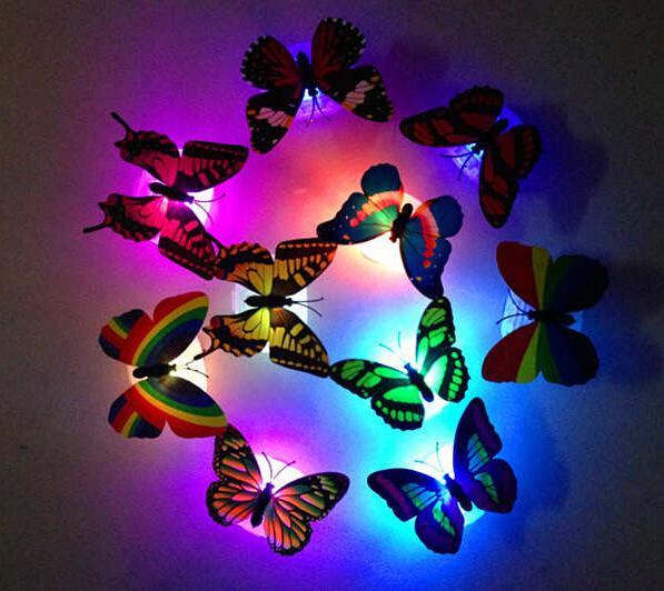 Гаджет  New 2015 1x 7 Color Changing Beautiful Cute Butterfly LED Night Light Lamp None Свет и освещение