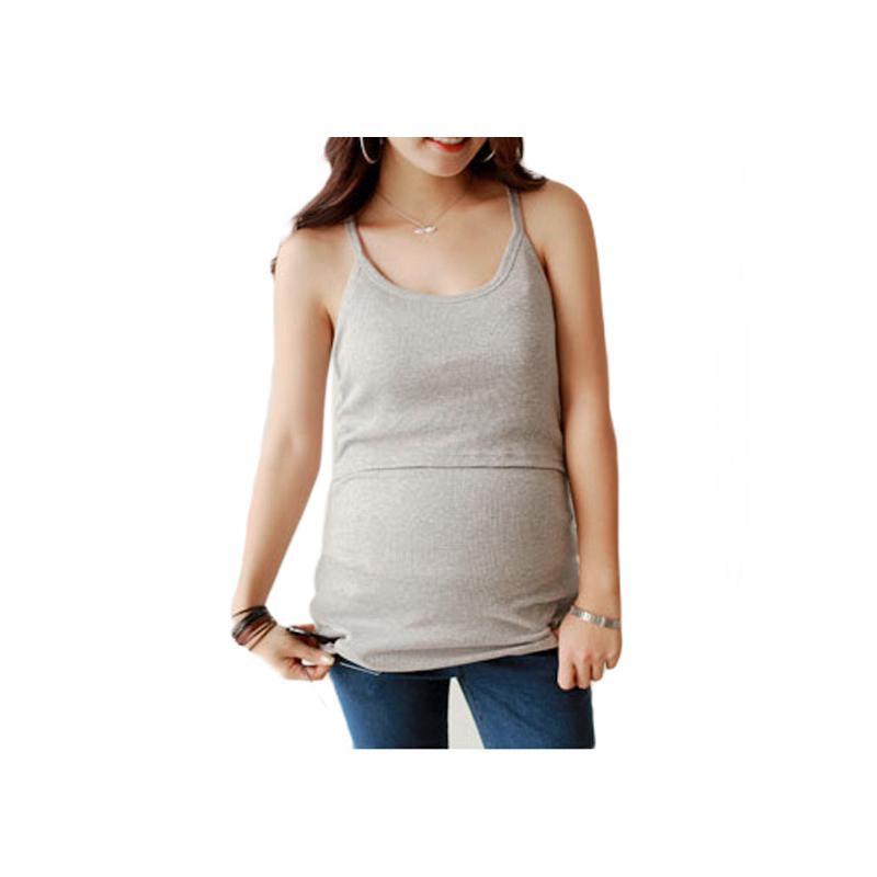 Rib Knit maternity tank top Women Summer strappy Vest Tank Tops Camisole Pregnant T-shirt Tunic Basic breastfeeding nursing tops(China (Mainland))