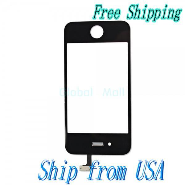 Ship From USA Touch Screen Digitizer Replacement for iPhone 4 GSM Version Black I00063(China (Mainland))