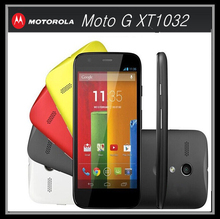 Original Unlocked Motorola Moto G XT1032 Mobile Phone Quad core GPS 3G 5MP 16GB ROM 4.5inch IPS Refurbished Android Smartphone
