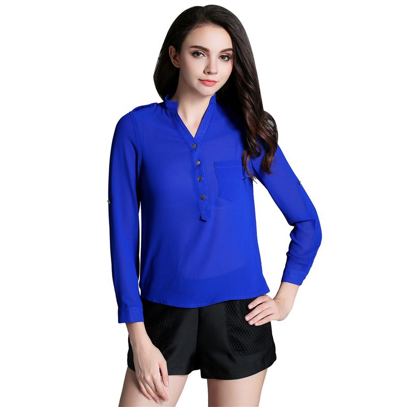 bldo new sleeve s blouses fashion v neck