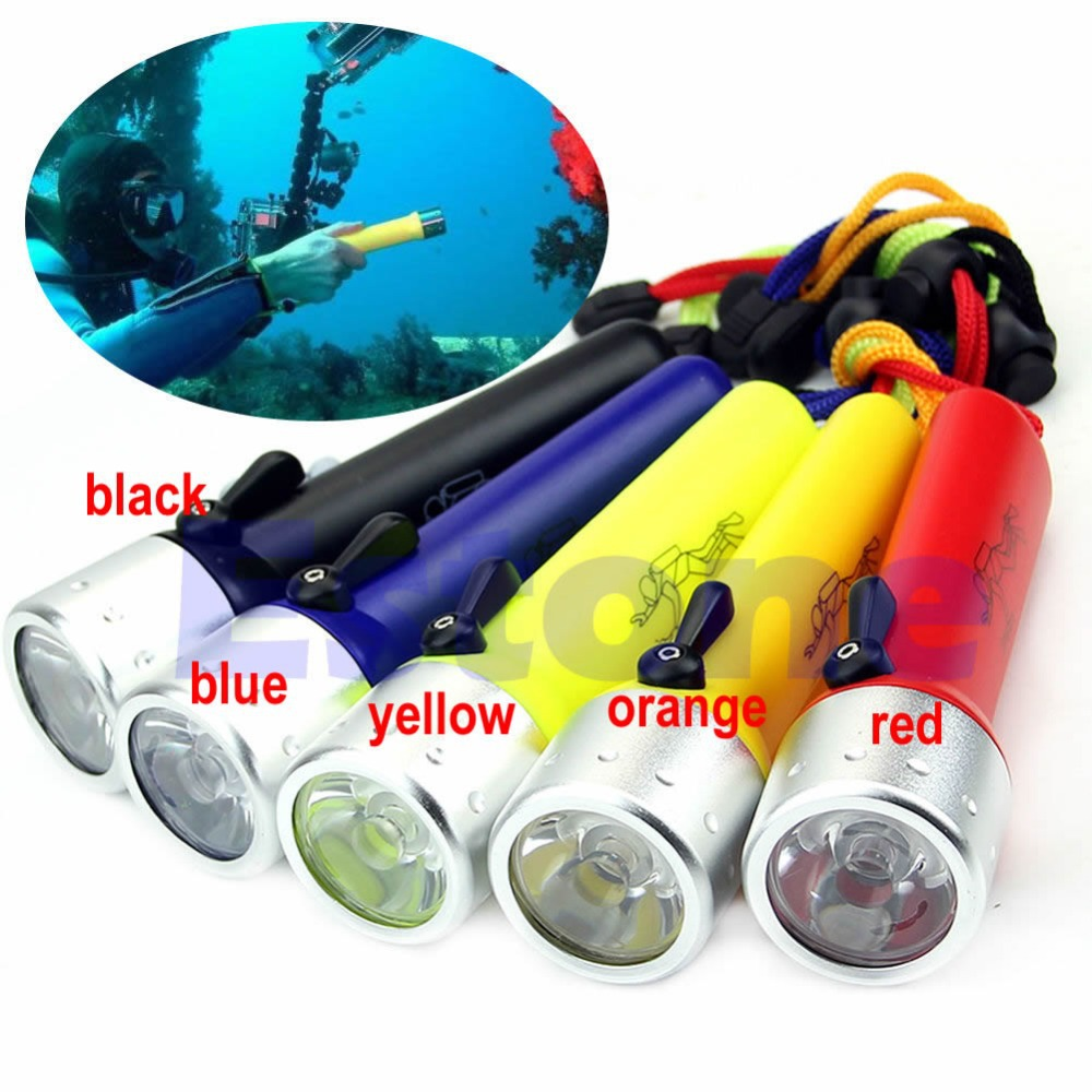 Free Shipping New Professional Underwater Diving Flashlight Torch LED Light Waterproof Lamp(China (Mainland))