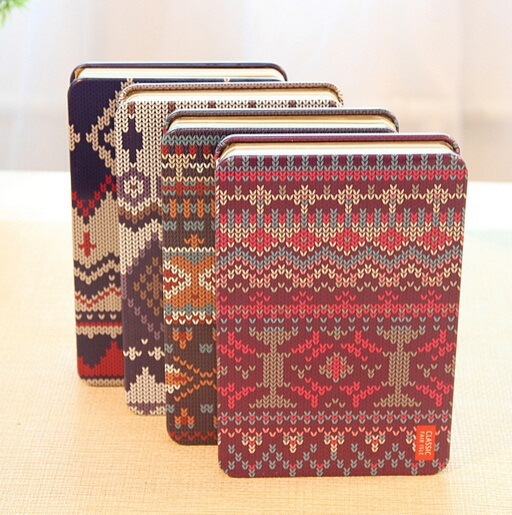 1PCS/LOT Vintage Sweet Creative Sweater Design handemade Iron cover Kraft Paper notebook Korea style(China (Mainland))