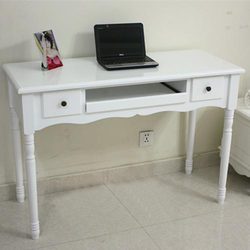 Rhin seine ordinateur bureau bureau simple rural blanc for Bureau simple blanc
