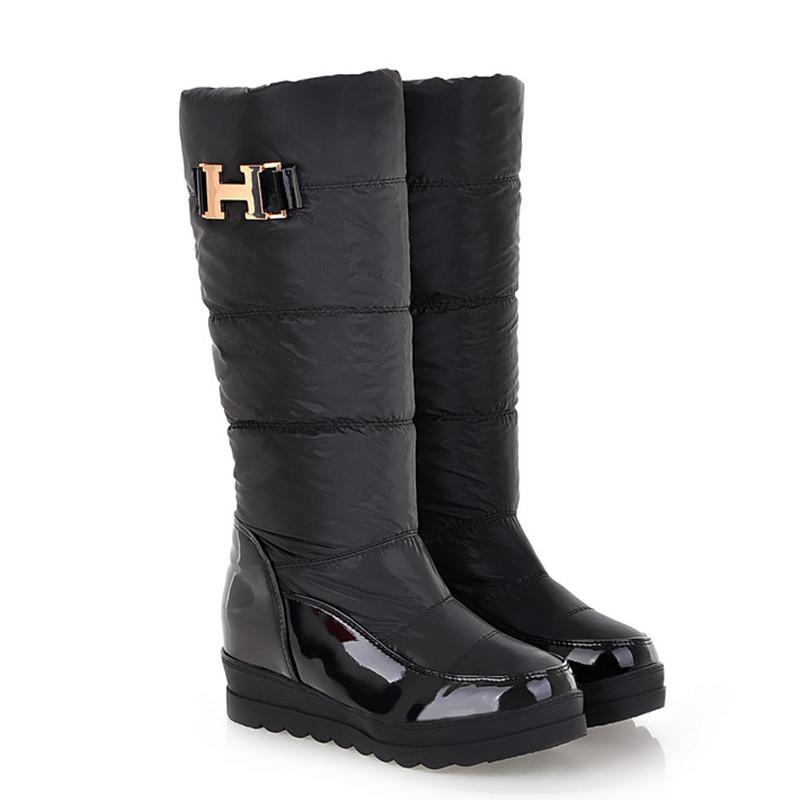 De la nieve botas para mujer botas de invierno de piel zapatos de