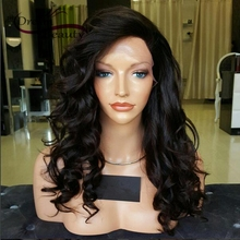 180% Full Lace Human Hair Wigs for Black Women Brazilian Virgin Hair Loose Wave Lace Front Wigs Glueless Full Lace Wigs(China (Mainland))