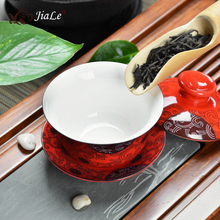 Drinkware Kung Fu TeaSets Porcelain GaiWan Tea Set 150ml Ceramic Tureen Teapot For Tea High quality